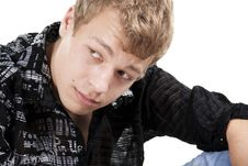 Free Attractive Young Man Looking Aside Royalty Free Stock Photos - 16788248