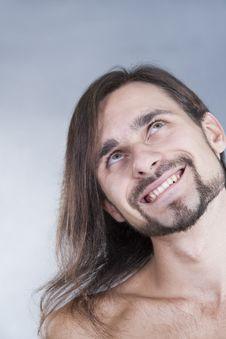 Free Long-haired Pensive Caucasian Man Stock Image - 16788351