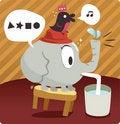 Free Elephant And Bird Royalty Free Stock Image - 16794336