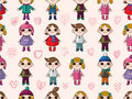 Free Seamless Cute Cartoon Pattern Stock Images - 16794914