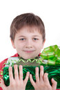 Free The Boy Has Received A Gift Stock Photo - 16795080