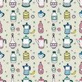 Free Seamless Cartoon Bottle Pattern Royalty Free Stock Photos - 16795098