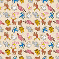 Free Seamless Cute Animal Pattern Stock Photos - 16795143