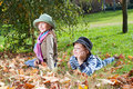 Free Happy Girl And Boy  Enjoying Golden Autumn Royalty Free Stock Image - 16795716