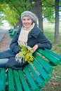 Free Pretty Young Woman Resting On A Bench Stock Photos - 16796903