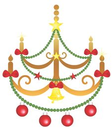 Free Xmas Chandelier Royalty Free Stock Images - 16790099