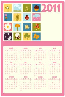 Free Calendar For 2011 Royalty Free Stock Images - 16790119