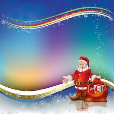 Free Christmas Greeting Santa Claus With Gifts Royalty Free Stock Images - 16790149