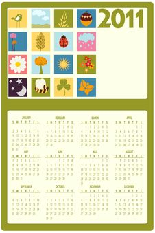 Free Calendar For 2011 Royalty Free Stock Images - 16790279