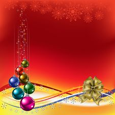 Free Christmas Greeting With Gold Bow Stock Image - 16790311