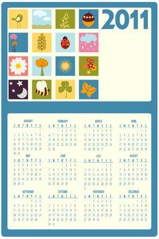 Free Calendar For 2011 Stock Photo - 16790320