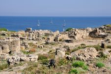 Free Archaeological Site Tharros In Sardinia Royalty Free Stock Photography - 16790407