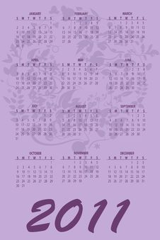 Free Calendar For 2011 Royalty Free Stock Photography - 16790577