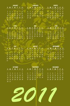 Free Calendar For 2011 Stock Photo - 16790630