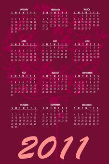Free Calendar For 2011 Royalty Free Stock Photos - 16790658