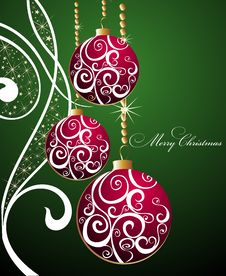 Free Merry Christmas Background With Balls Royalty Free Stock Images - 16790679
