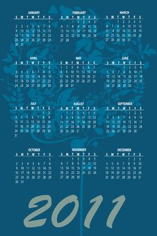 Free Calendar For 2011 Royalty Free Stock Image - 16790706