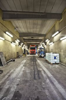 Free Truck Indoor Royalty Free Stock Photography - 16790707