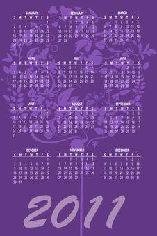 Free Calendar For 2011 Royalty Free Stock Photos - 16790738