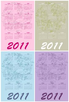 Free Calendars For 2011 Stock Photography - 16790842