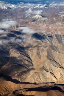 Free Mountains From The Plane Royalty Free Stock Photo - 16790935