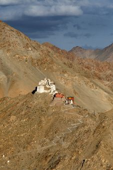 Monastery In Ladakh Royalty Free Stock Photos