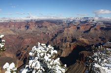 Free Grand Canyon With Snow In Winter Royalty Free Stock Photography - 16791057