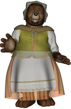 Free 3D Render Cartoon Mama Bear Stock Image - 16792961