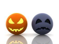Free Halloween, Happy And Sad Pumpkins Stock Photos - 16794623