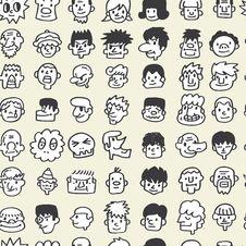Free Seamless Cute Cartoon Pattern Stock Image - 16794891