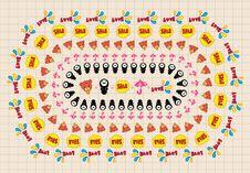 Free Seamless Cute Cartoon Pattern Vector Royalty Free Stock Image - 16795006