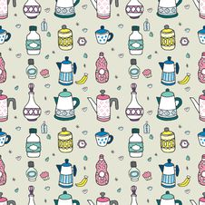 Free Seamless Cartoon Bottle Pattern Royalty Free Stock Photos - 16795098