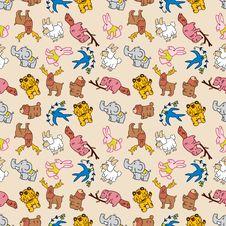Free Seamless Cute Animal Pattern Stock Photos - 16795143
