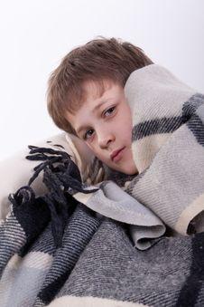 The Ill Boy Stock Image