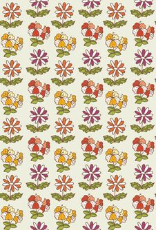 Pattern Flower Seamless Royalty Free Stock Photos