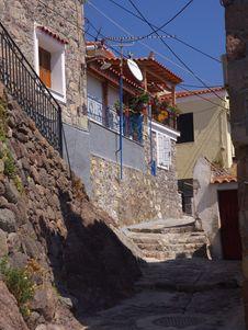 Free Lesbos Narrow Street Stock Images - 16796164