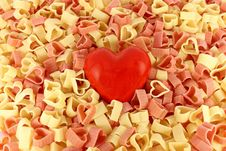 Free Pasta And A Heart Stock Photo - 16796680
