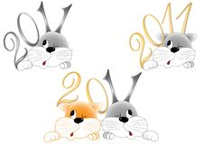 Rabbit And Cat Royalty Free Stock Images