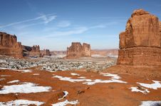 Free Arches National Park In Winter, Utah, USA Stock Photos - 16797133