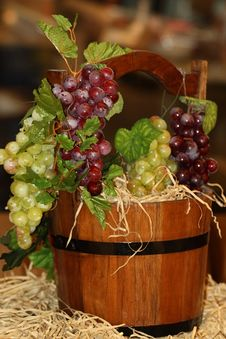 Free Bunch Of Grapes In A Bucket Royalty Free Stock Photo - 16797315