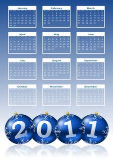 Free 2011 Calendar Royalty Free Stock Photography - 16797717