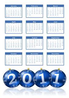 Free 2011 Calendar Stock Photos - 16797723