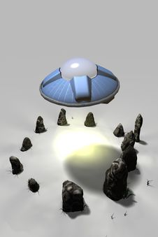 UFOs And Stone Circles Stock Photos