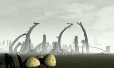 Free Stylized Alien City Stock Photos - 16797983