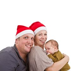 Free Baby Girls First Christmas Time Stock Photo - 16798000