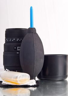 Keeping Your Lenses Clean Royalty Free Stock Photo