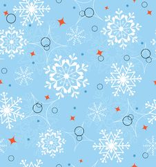 Free Blue Snowflakes Seamless Royalty Free Stock Image - 16798886