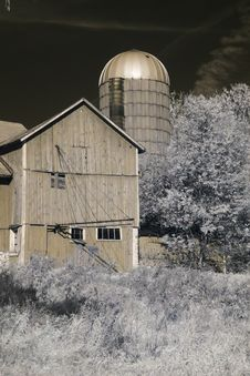 Free Old Barn In Infrared Royalty Free Stock Photo - 16799155