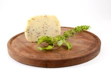 Free Cheese With Herbs Royalty Free Stock Photos - 16799318