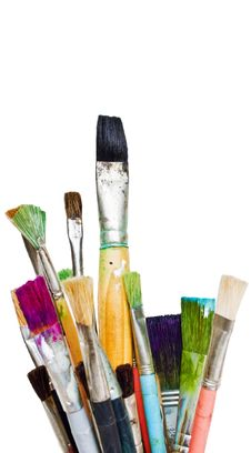 Free Old And Used Colorful Paintbrushes Royalty Free Stock Images - 16799439